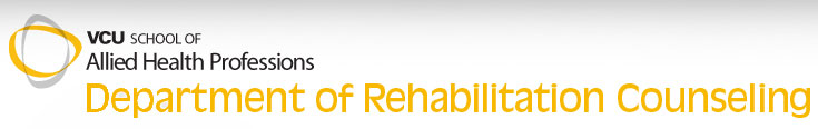 VCU Department of Rehabilitation Counseling logo