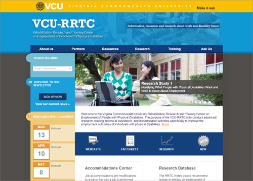 VCU-RRTC website
