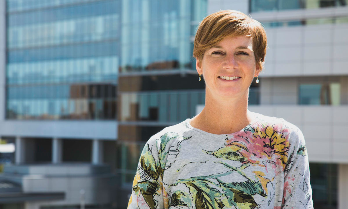 Carrie Peterson, Ph.D., assistant professor in the Department of Biomedical Engineering at VCU Engineering.