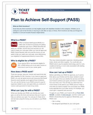 Plan to Achieve Self-Support (PASS) factsheet