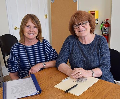 Left: CTI's Christine Groah & Elizabeth Getzel