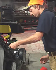 Dan repairing power equipment